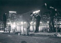 Smelt fishing at Belmont Harbor, c.1963, Chicago.