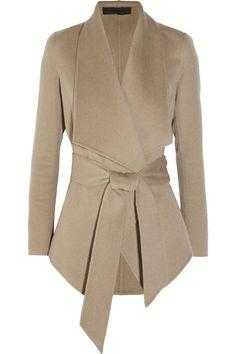 DONNA KARAN / Belted cashmere jacket