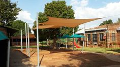Keep it covered! A great Coolaroo Shade Sail installation at a school. Keeping the kiddies cool!