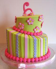 Pink Daisy Topsy Turvy Cake   Flickr - Photo Sharing!