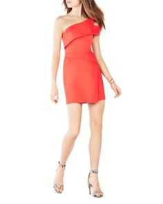 BCBGMAXAZRIA One-Shoulder Dress | bloomingdales.com