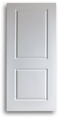 Hollow Core Interior Door 2-Panel Square 36w 80h