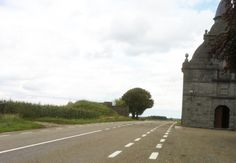 Circuit de Chimay - This is the Chapelle de l'Arbrisseau. Church on the right. Bunker on the left.