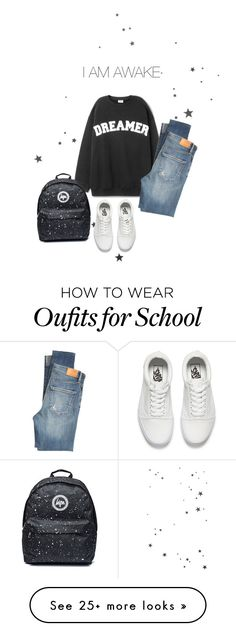 """""""Status"""" by sheenzoor on Polyvore featuring Citizens of Humanity and Vans"""