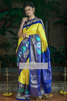 Buy readymade blouse online shopping india has got variety of blouse designs, designer blouses, ready to wear saree blouses. Ikkat Pattu Sarees, Pochampally Sarees, Pure Silk Sarees, Cotton Saree, Blouse Online, Sarees Online, Designer Blouses Online, House Of Blouse, Simple Sarees
