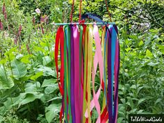 Colorful boho rainbow colors Dream Catcher baby by ToTheWindGods