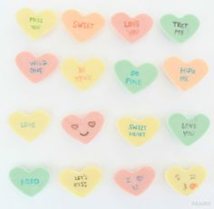 DIY Conversation Hearts Chocolate for Valentine's Day