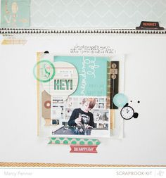 Uses SC Spencer's Scrapbook kit, Daily Grind add-on 2, Project life kits, Spencer's Card Americano