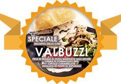 Mica speciale VALBUZZI!  Dalla ricetta dello chef Roberto Valbuzzi: fesa di maiale al rosa marinata agli aromi, crema di formaggio brie, cipolle caramellate, insalata di punte di asparagi.