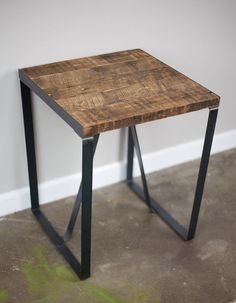End Table/Night Stand made w/ historical reclaimed wood. Great vintage/rustic/distressed design. Custom configs avail. (mid century modern) ($260.00) - Svpply