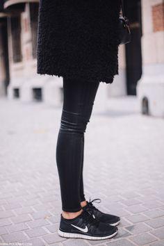 sporty in black