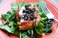 Mexican Meatloaf -- healthy and *good*! Lean ground turkey and black beans keep this nicely light and full of flavor.