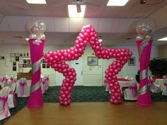 star balloon décor for quinceanera