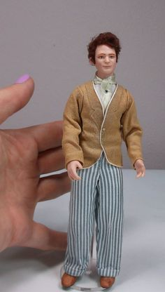 Miniature Dollhouse Doll 1:12 Scale/ Edwardian by LillisLittles