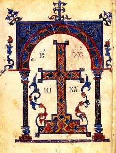 On the special dedications of the seven days of the week: when and to whom to pray / OrthoChristian. Medieval Manuscript, Illuminated Manuscript, Greek Icons, Christian Artwork, Esoteric Art, The Cross Of Christ, Byzantine Art, Book Of Hours, Holy Cross