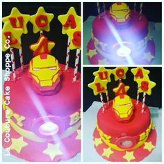 Iron Man Cake with LED light