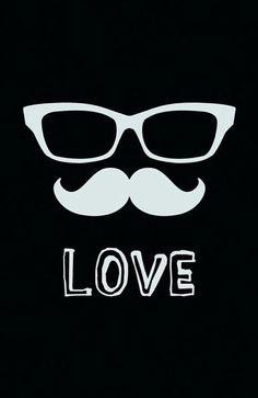 Glasses And Mustache Wallpaper