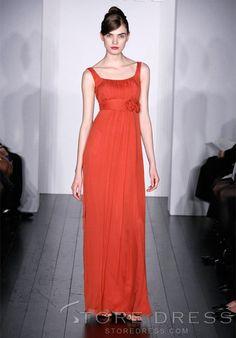 Pleats Flower Tumpet/Mermaid Floor-length V-Neck Bridesmaid Dress - Storedress.com