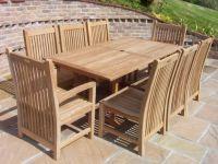 Wooden Garden Furniture Uk rio 6 seater wooden garden furniture set   garden   pinterest