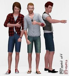 Sims 3 jeans, shorts, clothing, male