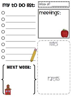 to do list for teachers, binder ideas