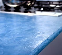 Recycled glass countertops  bathroom