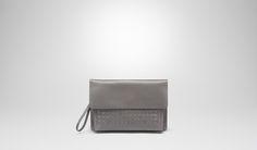 Bottega Veneta® Medium Grey Intrecciato Vachette Document Case  Small bag Bags