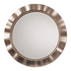 Shop for Cosmos Beveled Wall Mirror with Brushed Silver Round Wavy Frame. Get…