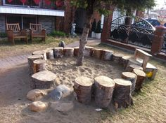 Sandbox. I love this idea for the kids.