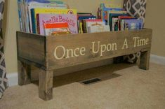 Darling idea for children's book storage ~ ❤