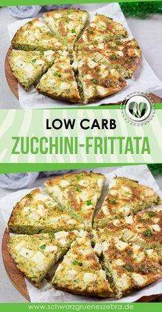 Diese leckere Frittata mit Zucchini und Feta ist lecker und vegetarisch. Das Rezept ist einfach gekocht und schmeckt mega lecker. Das Gericht kann man warm oder kalt genießen und so auch super mit in die Arbeit nehmen. Dazu ist es auch noch Low Carb, glutenfrei und ohne Kohlenhydrate. #lchf #keto #abnehmen #gesund #mealprep #togo #mittagessen #hauptgericht Some Recipe, Lchf, Super, Feta, Cooking Recipes, Recipes, Easy Cooking, Cold, Healthy Nutrition