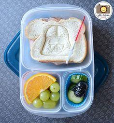 Super fun Star Wars school lunch - packed in @EasyLunchboxes