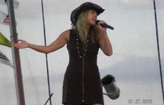 "Doing some country for a State Fair.  Singing ""Anyway"" by Martina McBride."