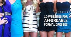 10 websites for affordable formal dresses
