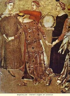 Ambrogio Lorenzetti. Allegory of Good Government: Effects of Good Government in the City. Detail. 1338-40. Fresco. Palazzo Publico, Siena, Italy