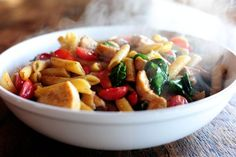 spinach and chicken pasta.