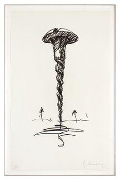 Claes Oldenburg, 'Colossal Screw in Landscape - Type 1,' 1976, Barbara Krakow Gallery
