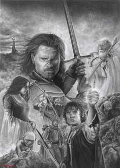 The Lord of the Rings by D17rulez {Daisy van den Berg of the Netherlands} on deviantART ~ traditional pencil art
