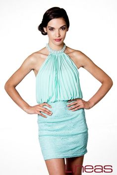 Vestido, Modelo 18840. Precio $220 MXN #Lineas #outfit #moda #tendencias #2014 #ropa #prendas #estilo #primavera #outfit #vestido