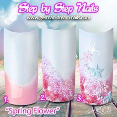 Spring-Nailart zum Nachmachen   http://www.german-dream-nails.com/nailart-anleitungen  #jolifin #nailart #nageldesign