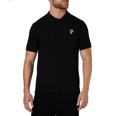 Versace Collection Men's Pique Medusa Short Sleeve T-shirt