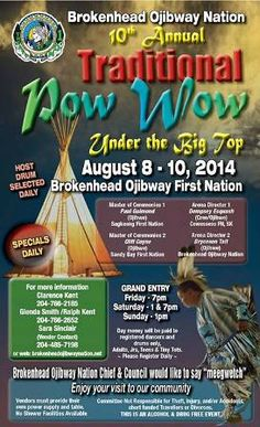 Brokenhead Ojibway Nation 10th Annual Traditional Pow Wow