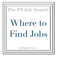 You completed PA school, now it's time to find a job. The PA Platform is filling you in on where to find PA jobs Where To Find Jobs, Find A Job, Physician Assistant Jobs, Pa Jobs, Pa Life, Pa School, The Pa, Medical Field, Job Offer