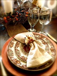 My Thanksgiving Table Placesetting