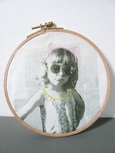 Wanddeko - Personalisiertes Bild im Stickrahmen - ein Designerstück von JuliaTongTong bei DaWanda
