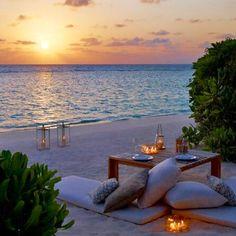 beach lounging at dusk...