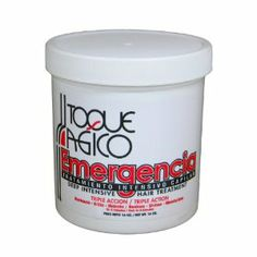Toque Magico Emergencia - Deep intensive hair treatment 16oz by Toque Magico. $12.55. Dominican Hair Care Product. Shines/Brilla. Moisturizes/Hidrata. Restore/Restaura. Triple Action?Triple Accion. Deep Intensive Hair Treatment restores shine and health to hair that has been extremely damaged by chemical processes such as hair coloring or straightners. Formulated with vitamins, proteins and mineral oils to assure maximum results.