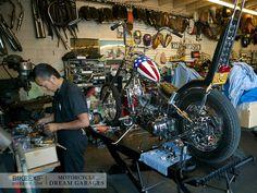 Custom motorcycle workshop
