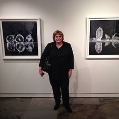 Janet Tavener with her new photographs