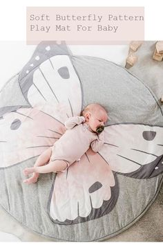 Butterfly Playmat Creeping Carpet Washable Rug for Kids Bedroom DécorINS New Baby Play Mats Kid Crawling Carpet Floor Rug Baby Bedding Butterfly Blanket Cotton Game Pad Children Room Decor rugs. Quilt Baby, Baby Play, Baby Kids, Butterfly Nursery, Baby Bedroom, Tummy Time, Baby Outfits Newborn, Baby Newborn, Nursery Design